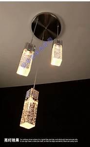Led crystal pendant lamps lighting light brief