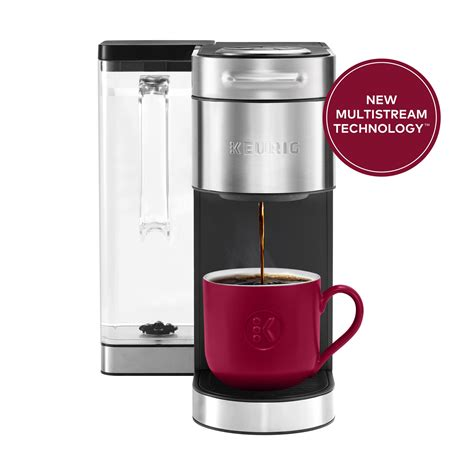 Cups of coffee, tea or hot chocolate. Keurig® K-Supreme Plus Single Serve K-Cup Pod Coffee Maker, MultiStream Technology, Stainless ...