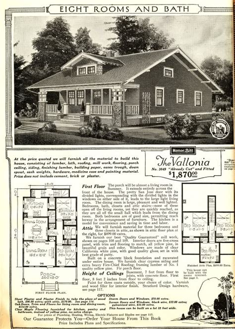 Vallonia Sears House Plans