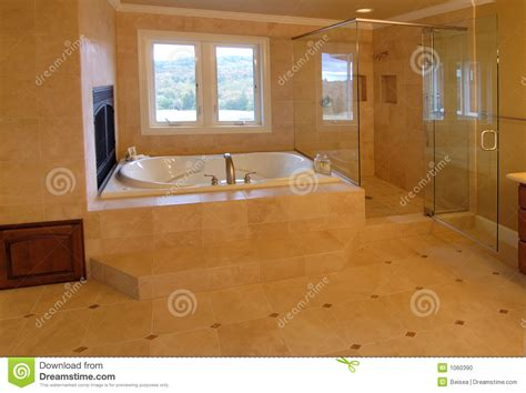 luxury master bath stock photo image  open floor