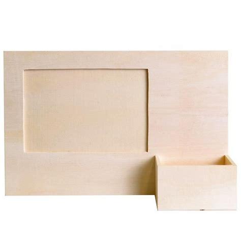 cadre photo bois a decorer cadre photo bois avec porte t 233 l 233 phone support bois 224 d 233 corer artemio