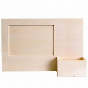 Cadre Avec Photo : cadre photo bois avec porte t l phone support bois d corer artemio ~ Teatrodelosmanantiales.com Idées de Décoration