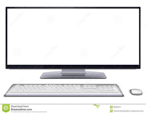 ordinateur de bureau avec ecran ordinateur de bureau moderne avec l 233 cran vide images libres de droits image 38355279