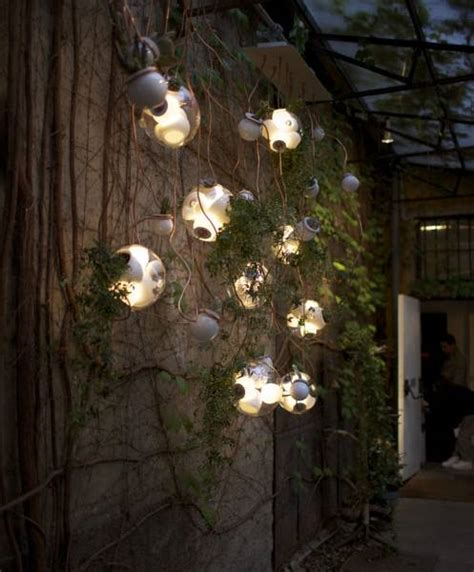 pendant lights with glass plant terrariums from bocci