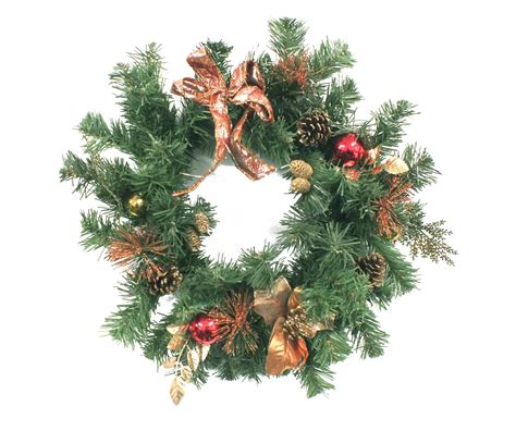 artificial bauble ribbon wreath at evergreen direct