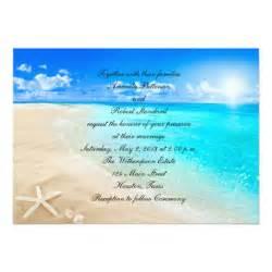 starfish wedding invitations starfish destination wedding invitation zazzle