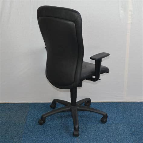 orangebox black leather managers task chair