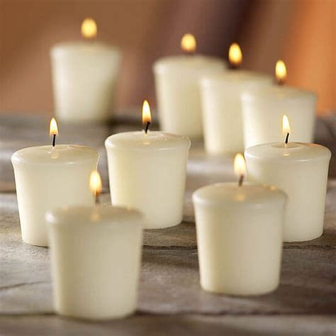 ivory unscented votive candles hr