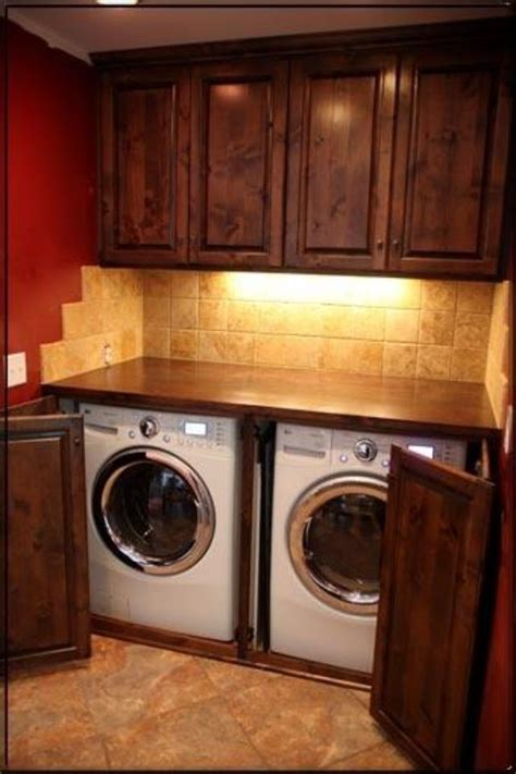 cool idea  washer  dryer  folding table  top