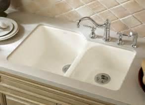 undermount kitchen sink with faucet holes k 5931 4u 96 kohler executive chef cast iron bowl undermount kitchen sink biscuit