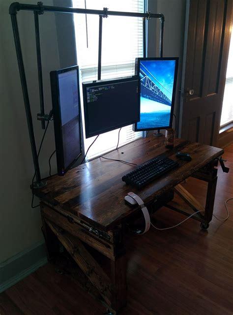 scrap  computer desk diy computer desk computer desk