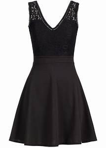 77 Online Shop De : styleboom fashion damen mini kleid spitze brustpads zipper hinten schwarz 77onlineshop ~ Markanthonyermac.com Haus und Dekorationen