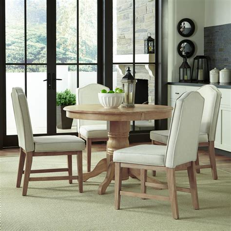 home styles classic 5 white wash upholstered dining