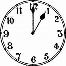 1 O'clock  Clipart Etc