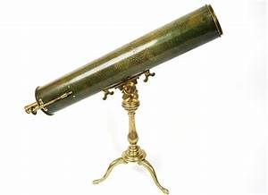Antique brass Gregory telescope, very refined, covered by ...