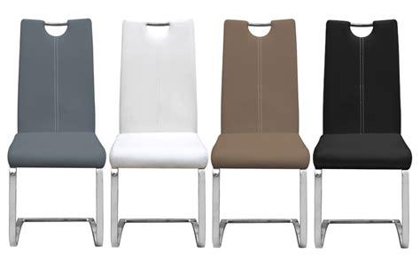 chaises marron chaise en mtal et pu design erina