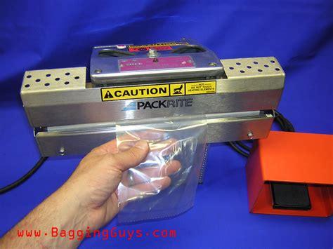 packrite poly motor jaw heat sealer