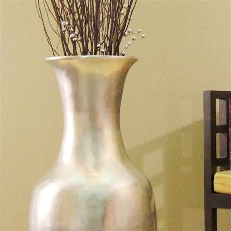 Large Floor Vases by Large Floor Vases 36 Quot Silver Leaf Large Floor Vase