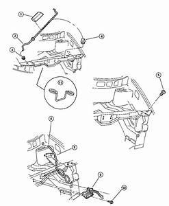 1997 Dodge Caravan Release  Hood Latch  Inside  Assy  Body