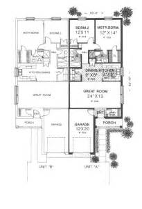 surprisingly duplex plans single story 24 best images about duplex single story ranch homes on