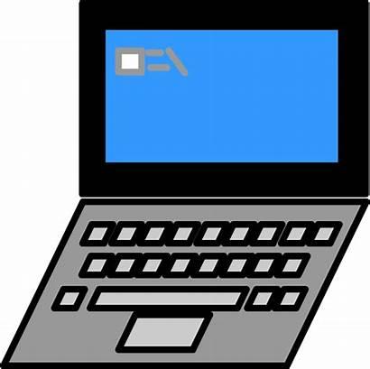 Laptop Clipart Clip Notebook Laptops Domain Computer