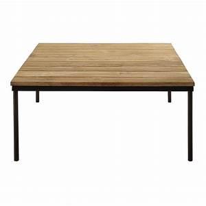 Table Basse En Metal : table basse en teck reycl et m tal l 100 cm louison maisons du monde ~ Teatrodelosmanantiales.com Idées de Décoration