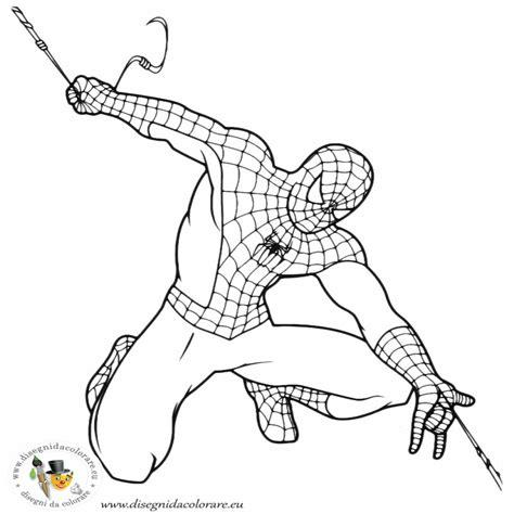 foto spiderman da colorare