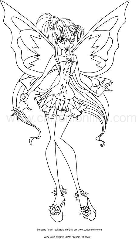 disegni da colorare winx stella disegno di stella tynix winx club da colorare