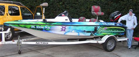 Fishing Boat Graphics Lettering by Custom Graphics Vinyl Wraps Boat Wraps Florida