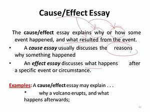 cause paragraph examples