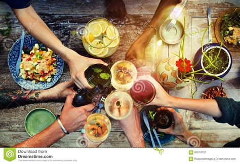 cuisine concept food table healthy delicious organic meal concept stock