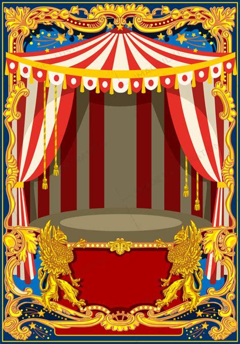carnival poster vector frame image illustration