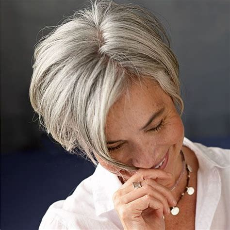 trendy gray hair styles  women   wehotflash
