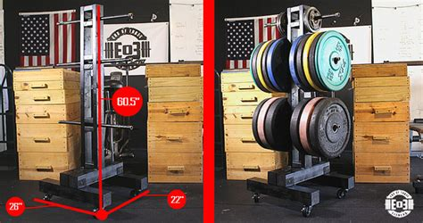 diy weight tree bumper plate storage   garage gym