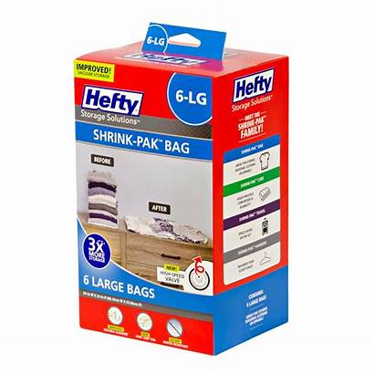 Hefty Bags Storage Solutions Shrink Pak Count