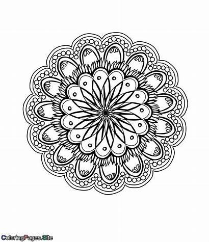 Coloring Complex Mandala Flower