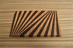 Fan Pattern End-Grain Cutting Board