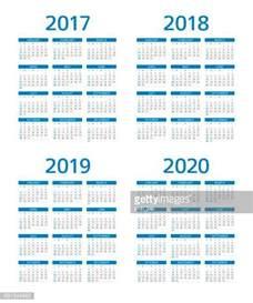 Calendars 2017 2018 2019 2020