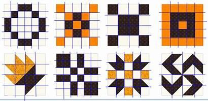 Quilt Blocks Grid Math Square Quilters Tidbit