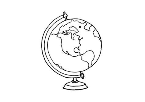 malvorlage globus ausmalbild