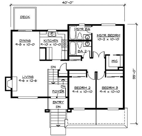 split level home plan jd architectural designs