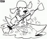 Kayaking Colouring Coloring Kajak Kleurplaat Kayak Water Dog Hond Clipart Printable Hund Sports Imprimer Kleurplaten Watersporten Wildwater Kleurplaatkleurplaten Malvorlagen Een sketch template