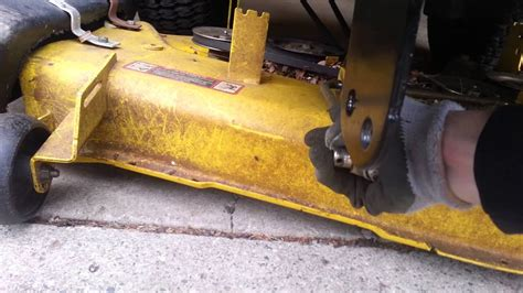 removing mower deck    snow plow youtube