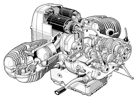 Some Great Cut Away Drawings Of Bmw Engines. I Got These