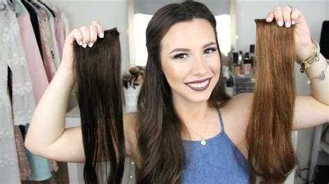 Brown Hair Vs Black by Foxy Locks Brown 20 Quot 230 Gram Extension Review
