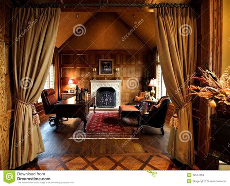 luxurious home office space stock image image