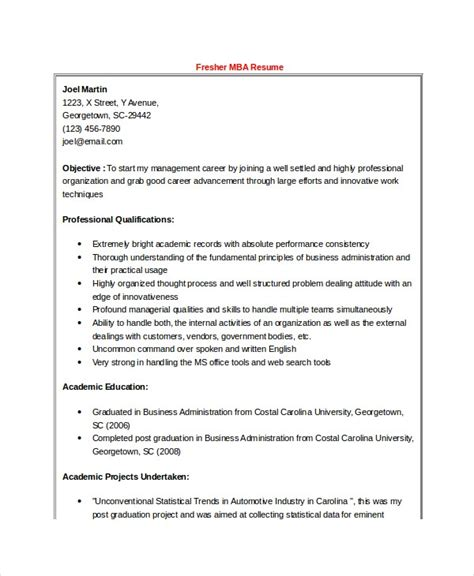resume format doc for fresher simple resume