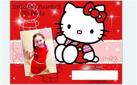 kitty  birthday invitation