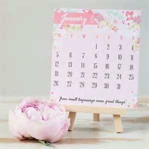 2015 mini desk calendar with easel by studio seed