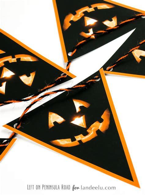 printable halloween bunting landeelucom